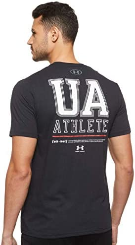 Under Armour Men/'s White UA Left Chest Logo Graphic Crew Short Sleeve T-Shirt