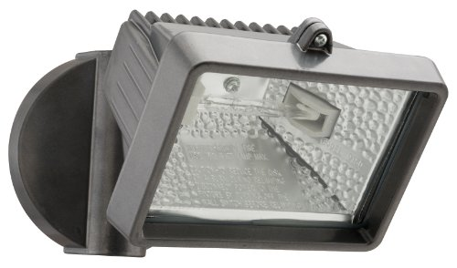 Lithonia Lighting OFLM 150Q 120 LP BZ M12 Mini Single-Head Flood Light 150-Watt Double Ended Quartz Halogen Lamp, Black Bronze (Outdoor Mini Led Flush Mount)