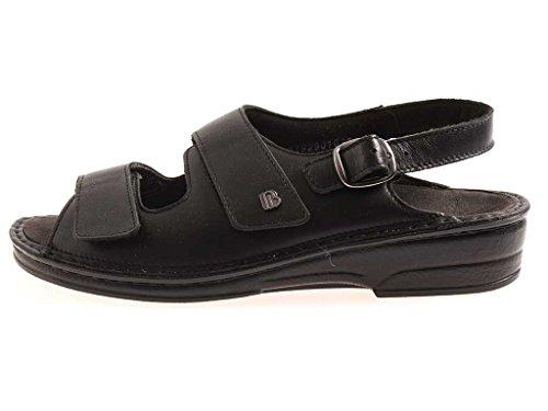 Berkemann Sandale Luisa Kalbsleder Schuhe Damen Einlagen Damenschuhe schwarz