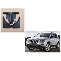 FMtoppeak 4Pcs Car Mud Flaps Splash Guard Fender Mudguard for Jeep Compass 2011-2016 with Logo