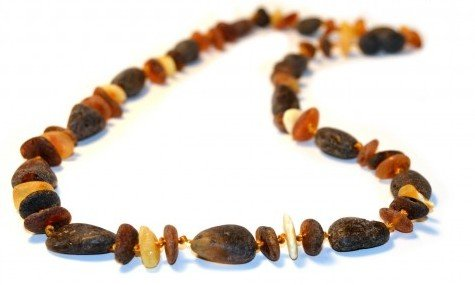 The Art of Cure Baltic Amber Necklace 17 Inch (Raw Fancy) - Anti-inflammatory by The Art of Cure