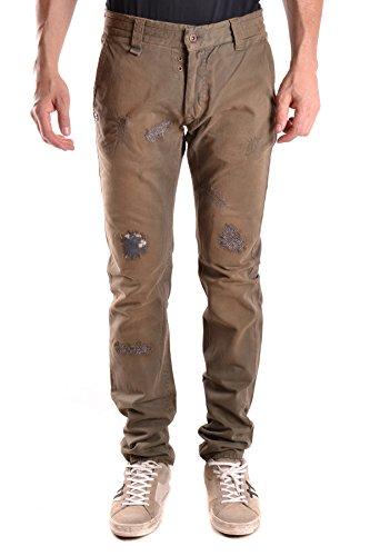Daniele Alessandrini No Brand Men's Mcbi086423o Brown Cotton Pants by Daniele Alessandrini