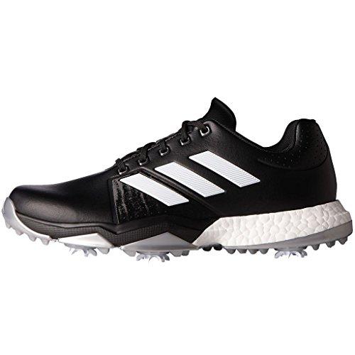 adidas Adipower Boost 62 Calzado de horma ancha para Hombre, Negro / Blanco / Plata, 46.5