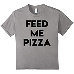Kids Feed Me Pizza T-Shirt Pizza Lovers Tee 6 Slate