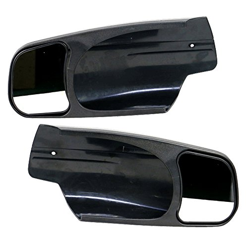 Towing Mirror Fits 2007-2013 Chevy Silverado | Factory Style Side View Towing Mirror Extension 2PC by IKON MOTORSPORTS | 2008 2009 2010 2011 2012