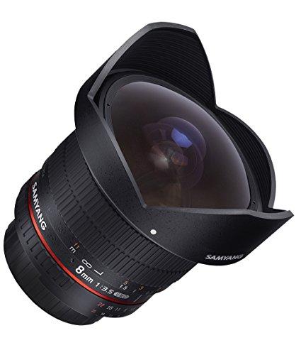 Samyang 8mm 1:3,5 MC CS II Fisheye Objektiv für Canon EOS APS-C, schwarz