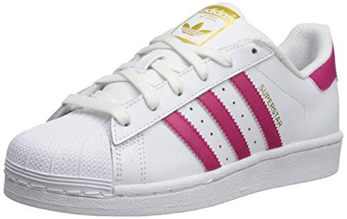 adidas Originals Kids' Superstr Foundation, White/Pink/White, 6 M US Big Kid