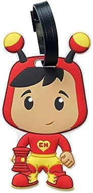 By Mexico El Chapulin Colorado Luggage Tag, Mexican TV Character Design