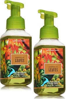 Autumn Leaf Soap - Bath and Body Works 2 Pack Jumping in Leaves Gentle Foaming Hand Soap. 8 Oz