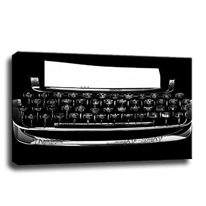 máquina de escribir - cuadro sobre lienzo - 120 x 80 cm