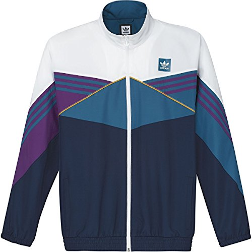 Court Mens Jacket - adidas Court Jacket - Men's White/Collegiate Navy/Tribe Purple, XXL