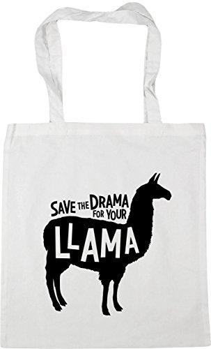 42cm White Bag Save Your litres Drama Tote 10 Gym Shopping HippoWarehouse for Llama Beach the x38cm PwqnWvZT