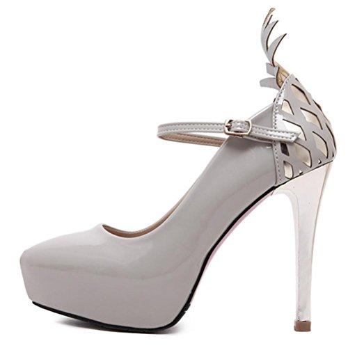 Patente Ultra De Elegante Mujeres Taiwán Alta Cuero Con Zapatos Mzg Impermeable E 1 Mujer Baja Boca xUBzaqq