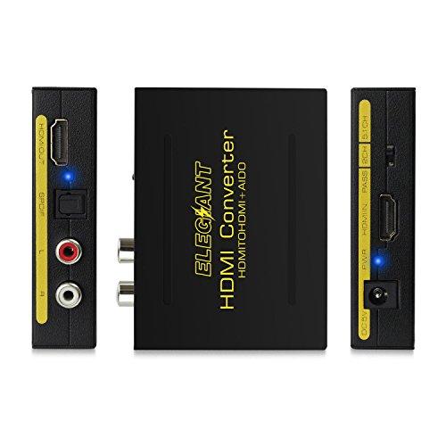 ELEGIANT HDMI Audio Extractor Splitter HDMI to HDMI + SPDIF RCA Stereo L/R Audio Output Digital to Analog Audio
