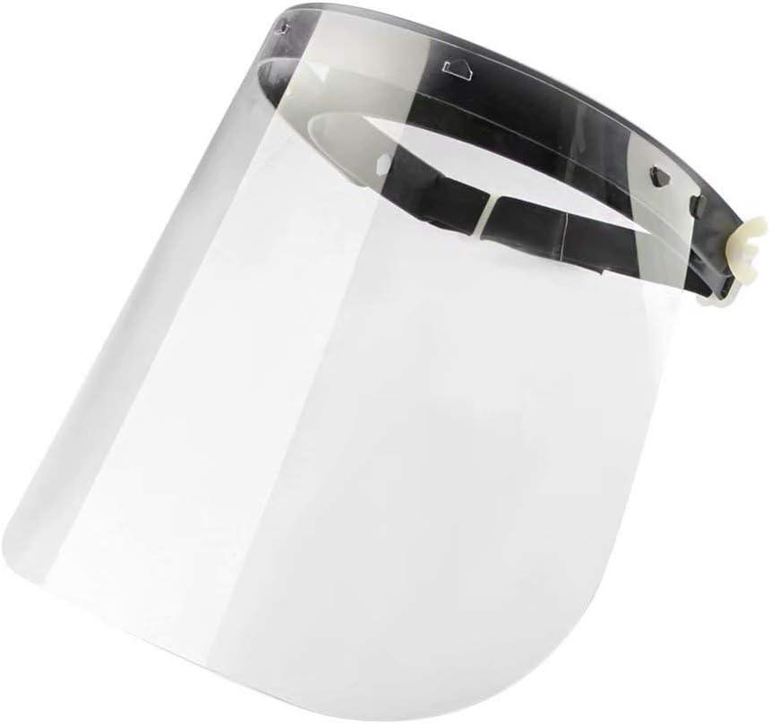 /Écran Facial /écran Facial m/édical Transparent en Plastique r/églable pour Anti-salive Brouillard Pollen fum/ée visi/ère de Protection int/égrale /éclaboussures dhuile et poussi/è gouttelettes