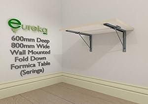 wall mounted fold down formica table seringa cream colour