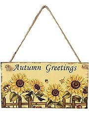 Thanksgiving Wooden Fall Sign Harvest Day Hängande Solros Wall Plaque Door Hanger Dekor