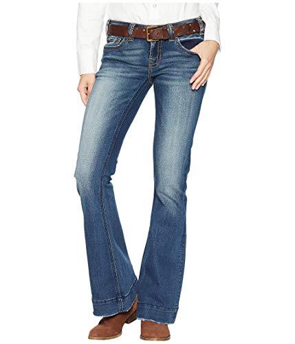 Rock and Roll Cowgirl Women's Trouser Jeans in Dark Vintage W8-7683 Dark Vintage 34 36