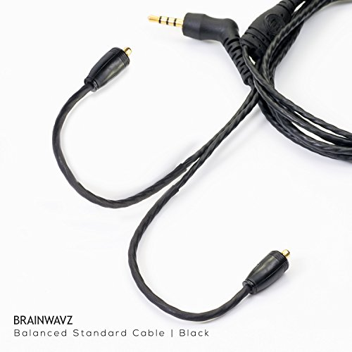 Mmcx Gps Antenna (Brainwavz 2.5mm Balanced Earphone Replacement Cable with MMCX Connectors (Standard Black))