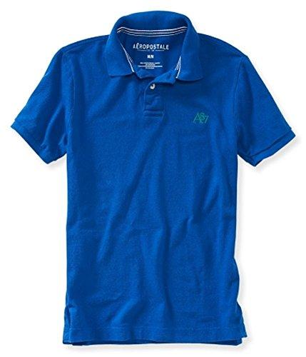 Aeropostale Mens A87 Uniform Rugby Polo Shirt 433 (Aeropostale Mens Polo Shirt)