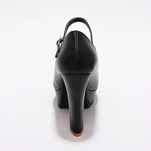 Tacón Janes Mary Coolcept Mujer Zapatos Black Ancho Cerrado pq88E6WwZT