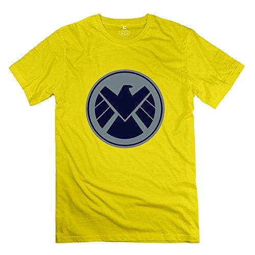 Agent Yellow T-shirt (Man Marvels Agents Of S.H.I.E.L.D. Logo Custom Retro Yellow T-Shirt By)