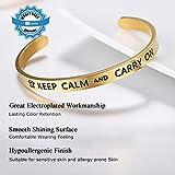 Adjustable Bracelet Keep Calm and Carry On Faith
