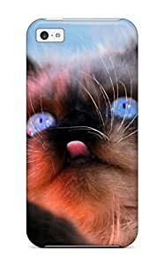 First-class Case Cover For Iphone 5c Dual Protection Cover Gorgeous Kitten