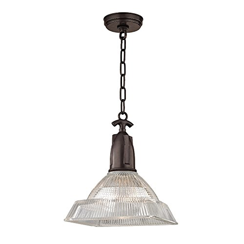 Cheap  Langdon 1-Light Small Pendant - Old Bronze Finish with Clear Glass Shade
