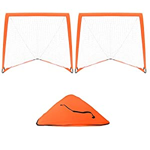 Trademark Innovations 4' x 4' Backyard Lacrosse Goal Net with 2 Lacrosse Balls and Carry Bag - Set of 2
