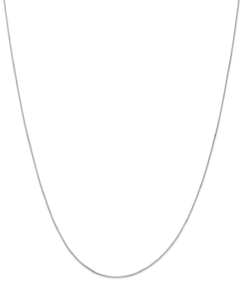 ICE CARATS 14k White Gold .5 Mm Baby Box Chain Fine Jewelry Gift Set For Women Heart