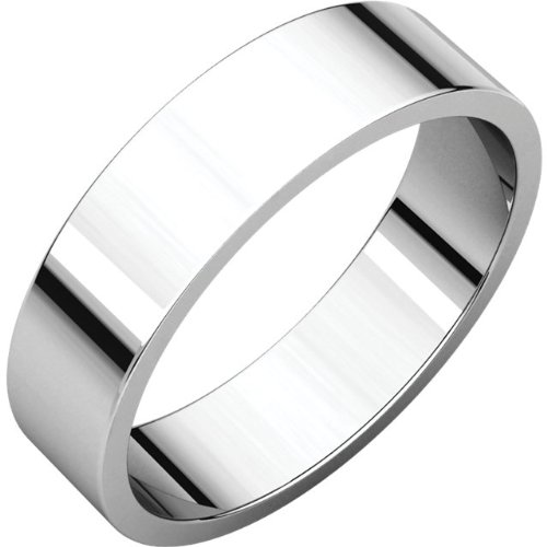03.00 mm Flat Band in 14K White Gold Size 13