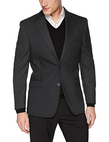 - Tommy Hilfiger Men's Classic Blazer, Blue/Gray Micro Check, 42 Regular