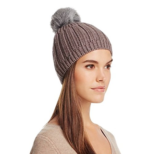 Fawn Beanie - UGG Women's Solid Ribbed Beanie Winter Hat (O/S, Fawn Heather)