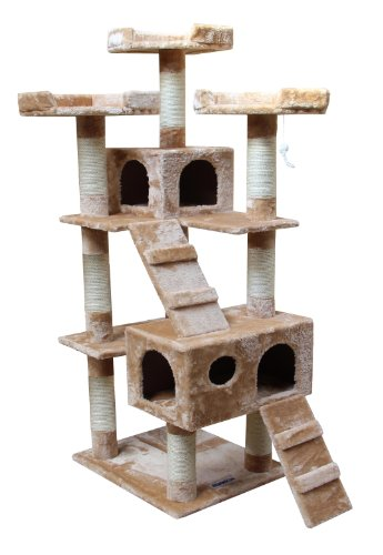 Kitty Mansions Bel Air Cat Tree, Beige, My Pet Supplies