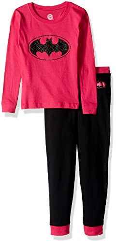 DC Comics Girls 'Batman Batgirl Princess Glitter Ballet Logo' Cotton  Costume Pajama Set, Fuchsia, 3T for $<!--$10.24-->
