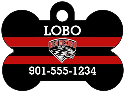New Mexico Lobos Dog Tag Pet Id Tag Personalized w/ Name & Number