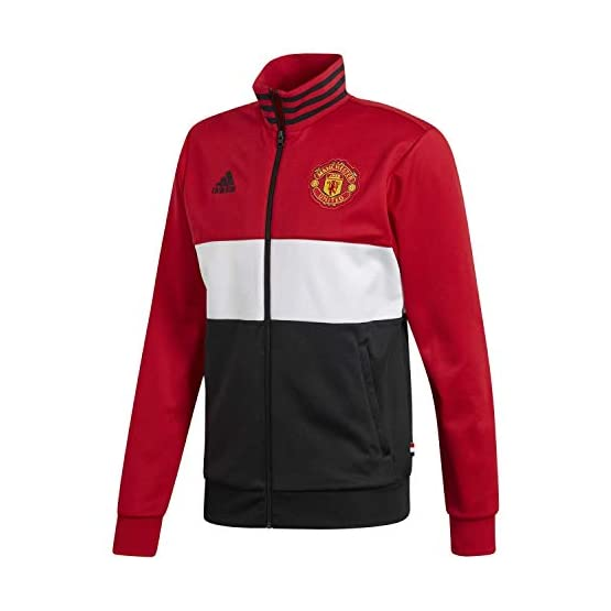 adidas Manchester United 3 Stripes Track Blouson Homme