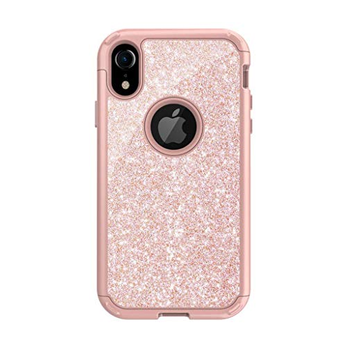 Suitable for iPhone 7/8 / 7plus / 8plus / X/XS Phone Shell, Drop Resistance Protective Sleeve Glitter Series-Rose Gold-X/XS