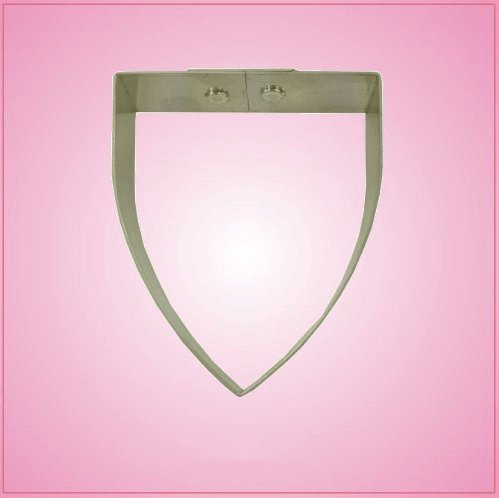 Flat Top Shield Cookie Cutter 3-1/4-inch by 2-3/4-inch (Shield Cookie Cutter)
