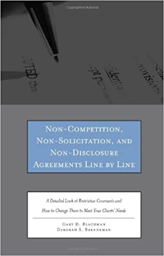 Non Competition Non Solicitation And Non Disclosure Agreements