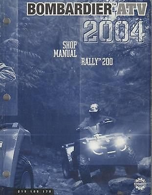 Johnson Evinrude Bombardier (2004 Bombardier Atv Rally 200 P/N 219 100 178 Shop Manual (097))