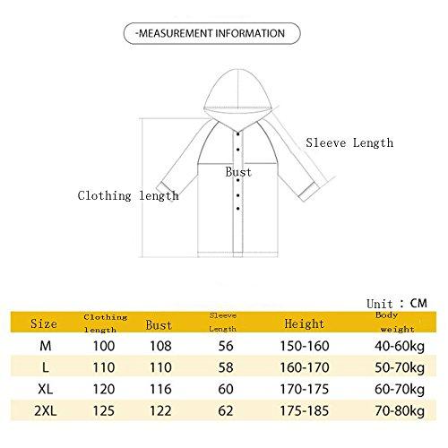 5 impermeabile Poncho Turismo lungo yuyi individuale Impermeabile Impermeabile arrampicata adulto impermeabile cappello impermeabile tratto ZZHF C disponibili all'aperto pesca grande colori EqTg1wZ1x