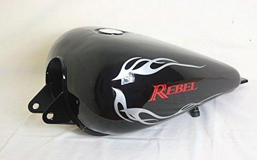 Motorcycle Honda Rebel 250 CMX 250 Fuel Gas Tank Black (1985-2014)