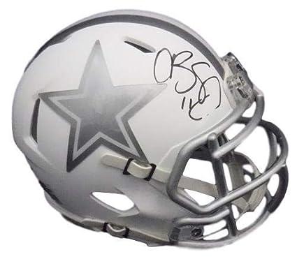 Amazon.com  Cole Beasley Autographed Signed Dallas Cowboys Ice Mini ... 2d7de2d50