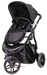 The Muv Gaan modern stroller in Satin Black finish is perfect for everyday use with its light weight and easy compact fold- with the seat on or off. It's fully functional for almost every lifestyle and will give your child a smooth and safe r...