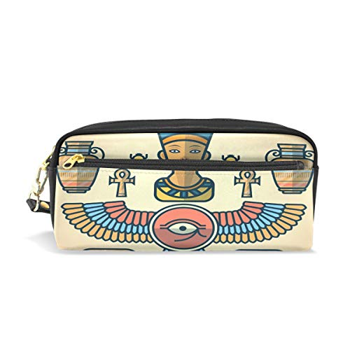 Leather Pencil Case Holder Egypt Vintage Eagle Pen Pounch Womens Cosmetic Makeup - Eagle Pen Vintage