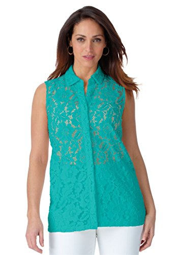 Jessica-London-Womens-Plus-Size-Lace-Front-Shirt