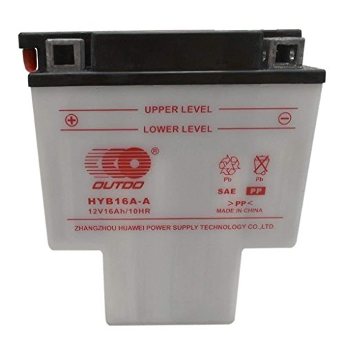 ZXTDR HYB16A-AB T Shaped Battery for Honda VT700 VT750 VT1100 Shadow Spirit Aero ACE