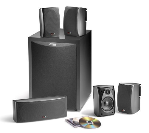 Polk Audio RM6750 5.1 Channel Home Theater Speaker System (Set of Six, Black) (Renewed)